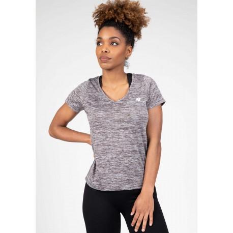 Elmira V-neck - szara koszulka sportowa