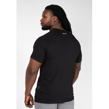 Davis T-shirt - czarna koszulka sportowa męska