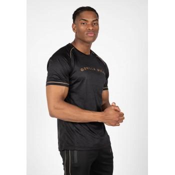 Fremont T-Shirt - czarno/złota koszulka sportowa