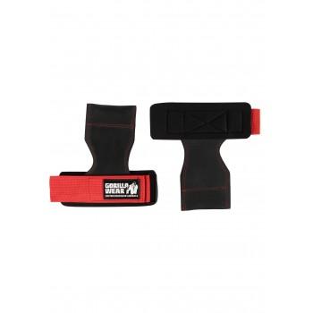 Lifting Grips - czarno/czerwone pady do treningu