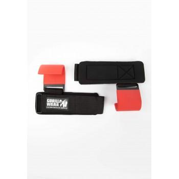 Lifting Hooks - czarno/czerwone haki treningowe