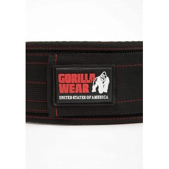 4 Inch Nylon Lifting Belt - czarno/czerwony pas treningowy na siłownie