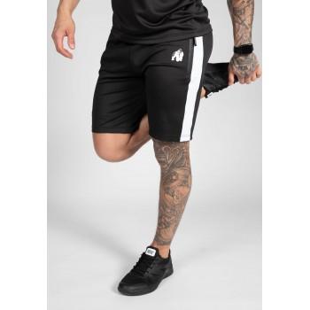 Benton Track Shorts - czarne spodenki dresowe