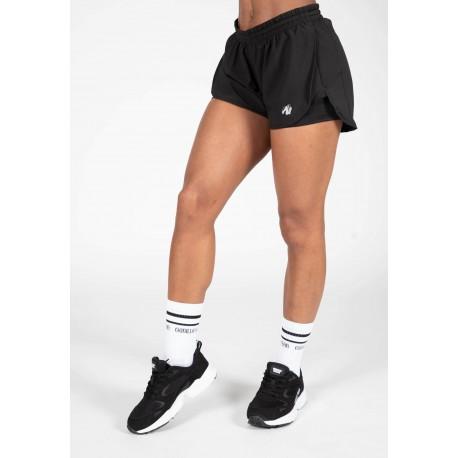 Salina 2 in 1 Shorts - czarne spodenki damskie