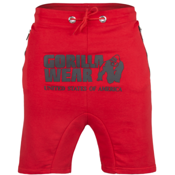Alabama Drop Crotch Shorts, Red