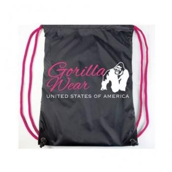 Drawstring Bag - Black/Pink