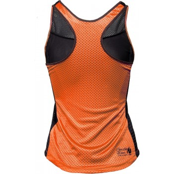 Marianna Tank Top - Black/Neon Orange