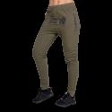 Celina Drop Crotch Joggers - zielone damskie joggery