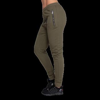 Celina Drop Crotch Joggers - Army Green