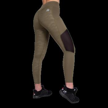 Savannah Mesh Tights - Army Green
