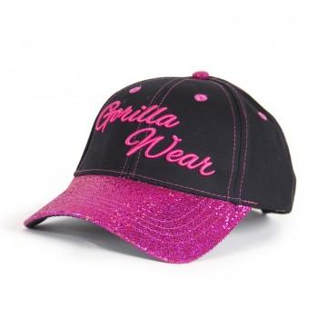 Louisiana Glitter Cap, Black/Pink