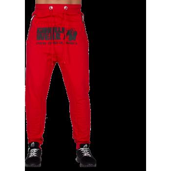 Alabama Drop Crotch Joggers, Red