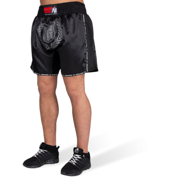 Murdo Muay Thai / Kickboxing Shorts, Black/Grey