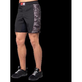 Kensington MMA Fightshorts, Black/Grey Camo