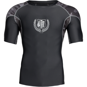 Cypress Rashguard Short Sleeve, Black/Grey Camo