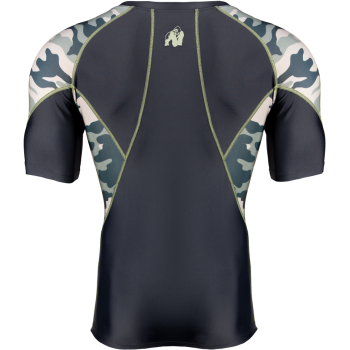 Cypress Rashguard Short Sleeve, Army Green Camo