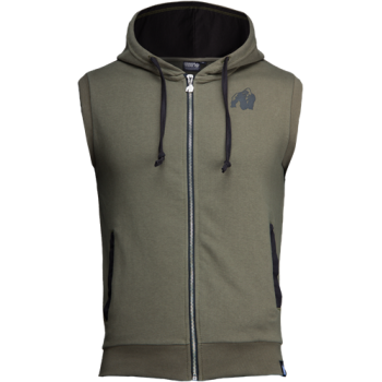 Springfield S/L Zipped Hoodie, Army Green
