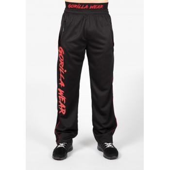 Mercury Mesh Pants - Czarno/Czerwone spodnie treningowe