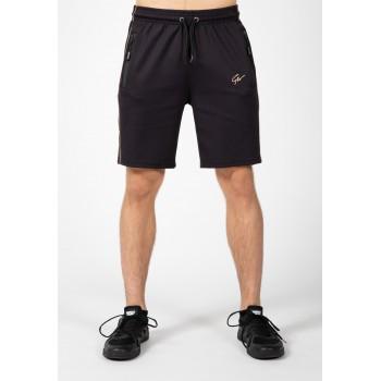 Wenden Shorts - czarno złote spodenki dresowe męskie