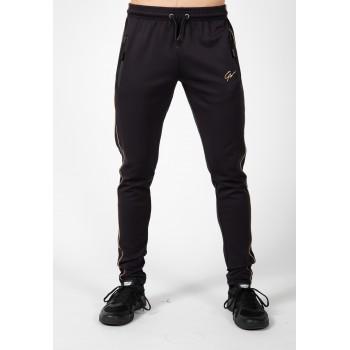 Wenden Pants - dresowe spodnie dresowe czarno złote