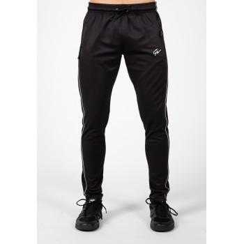 Wenden Pants - czarno białe spodnie dresowe czarne
