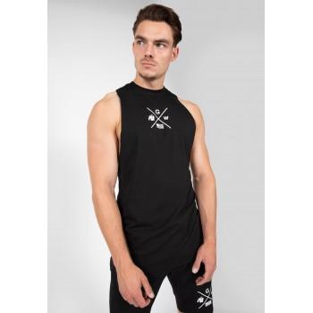 Cisco Drop Armhole Tank Top - czarno biała koszulka bez rękawów męska