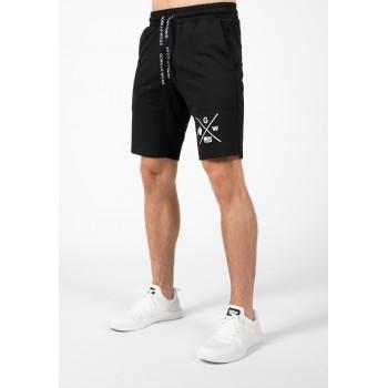 Cisco Shorts - czarno białe krótkie spodenki męskie