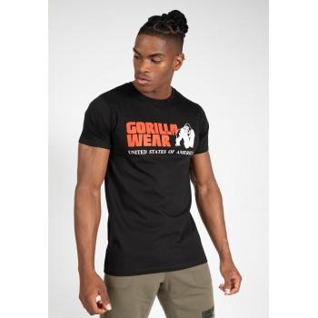 Classic T-shirt - czarna koszulka męska