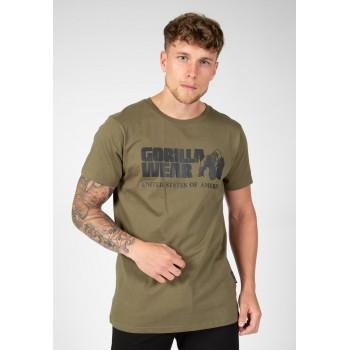 Classic T-shirt - zielona koszulka męska