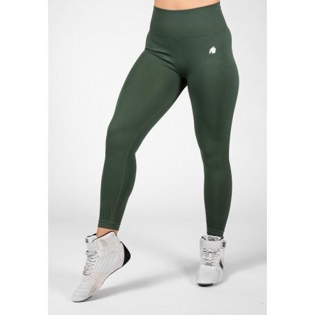 Neiro Seamless Leggings - zielone legginsy damskie