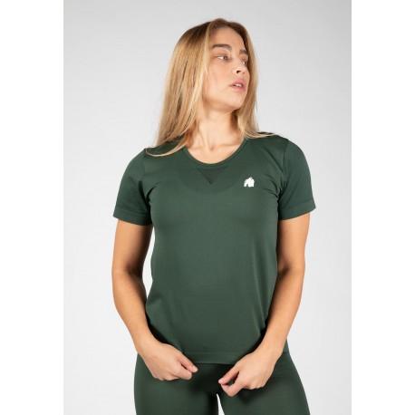 Neiro Seamless T-shirt - zielona koszulka damska