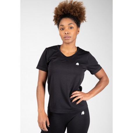 Neiro Seamless T-shirt - czarna koszulka damska