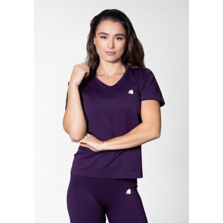 Neiro Seamless T-shirt - fioletowa koszulka damska