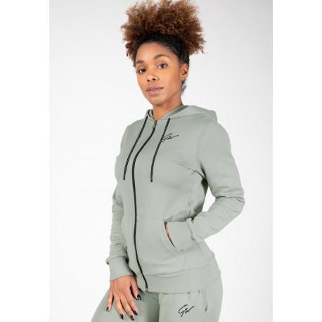 Pixley Zipped Hoodie - zielona bluza damska sportowa