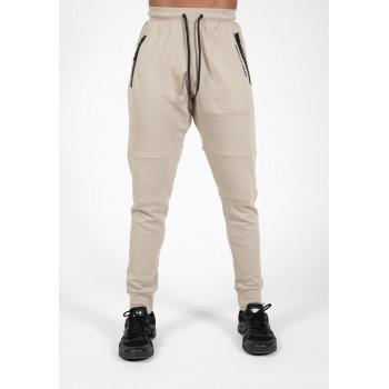 Newark Pants - beżowe spodnie dresowe