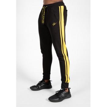 Banks Pants - czarno/żółte spodnie dresowe