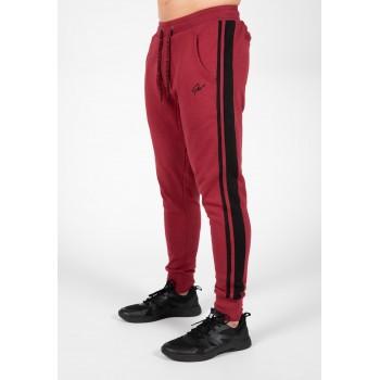 Banks Pants - burgundowo/czarne spodnie dresowe