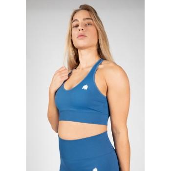 Hilton Seamless Sports Bra - niebieski stanik sportowy