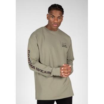 Boise Oversized Long Sleeve - zielona bluzka z długim rękawem