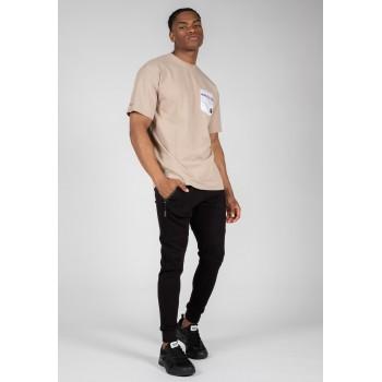 Dover Oversized - beżowa koszulka męska
