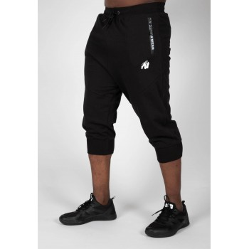 Knoxville Sweatpants - czarne spodnie dresowe 3/4