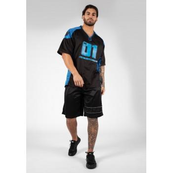 Athlete T-shirt 2.0 William Bonac - Czarno/Niebieska Footbolówka