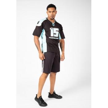 Athlete T-shirt 2.0 Brandon Curry - Czarno/Błękitna Footbolówka