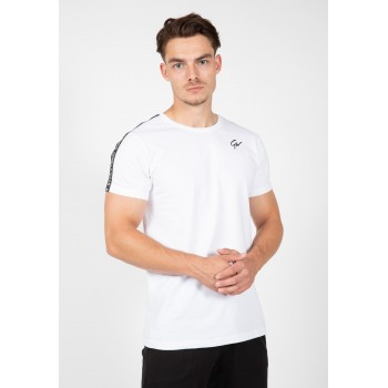 Gorilla Wear USA Chester T-shirt - biało/czarna koszulka na trening