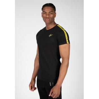 Gorilla Wear USA Chester T-shirt - czarno/żółta koszulka na trening