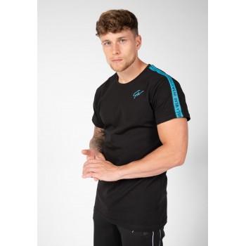 Gorilla Wear USA Chester T-shirt - Czarny/Niebieski koszulka na trening