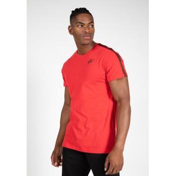 Gorilla Wear USA Chester T-shirt - czarno/czerwona koszulka na trening
