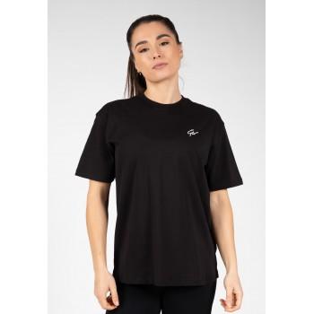 Sandy Oversized - czarna luźna koszulka