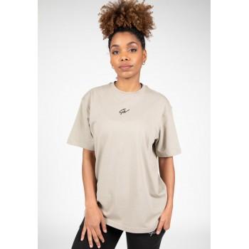 Bixby Oversized T-shirt - beżowa luźna koszulka